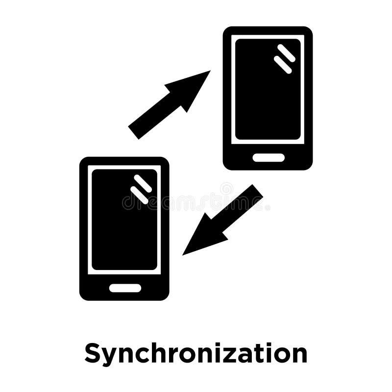 Synkroniseringssymbolsvektor som isoleras på vit bakgrund, logo c royaltyfri illustrationer