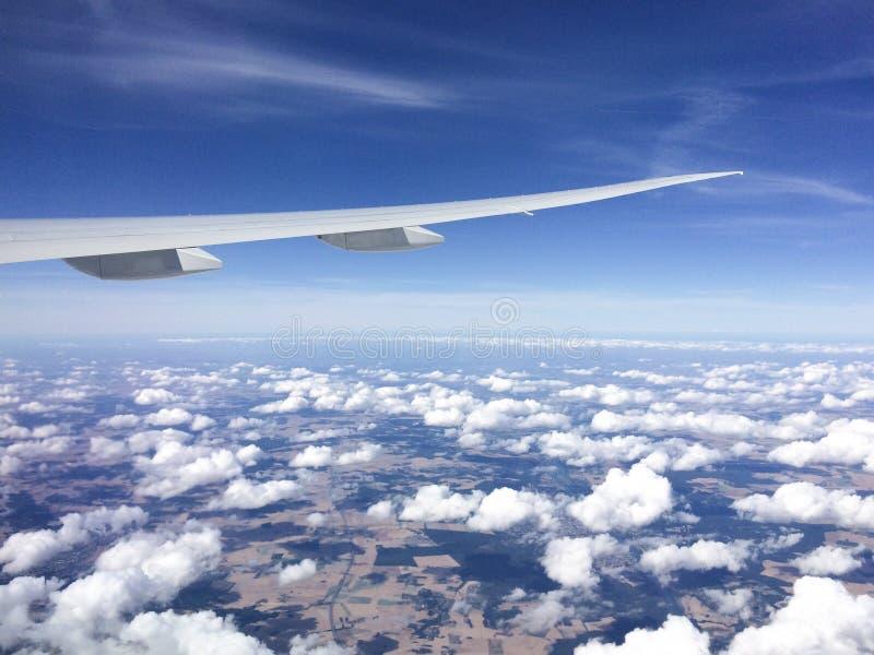 synlig vinge för motorjetsikt arkivfoto