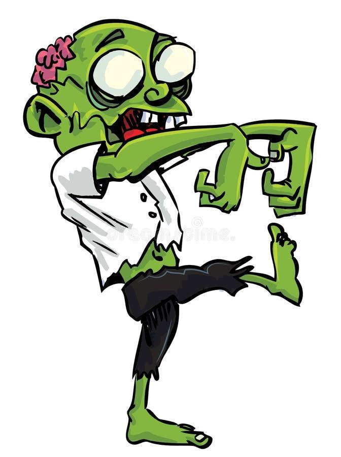 synlig zombie för hjärna tecknad film stock illustrationer