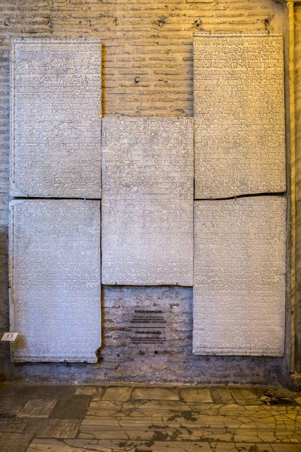 Synode-Entscheidungen in Haghia Sophia Museum, Fatih-Bezirk von Istan stockfoto