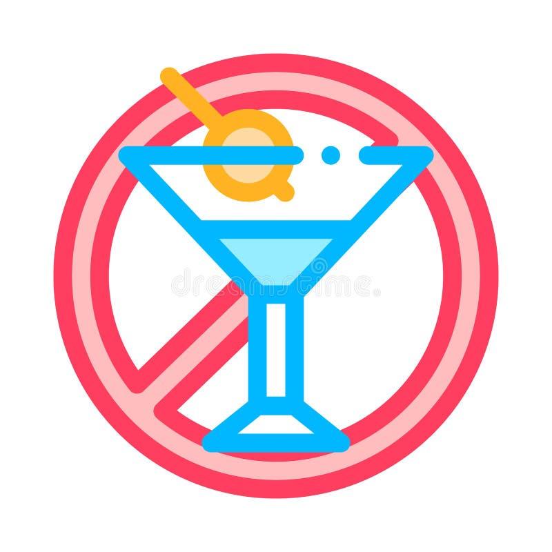 Synonym für 'Allergen Free Sign Alcohol Vector Thin Line' stock abbildung