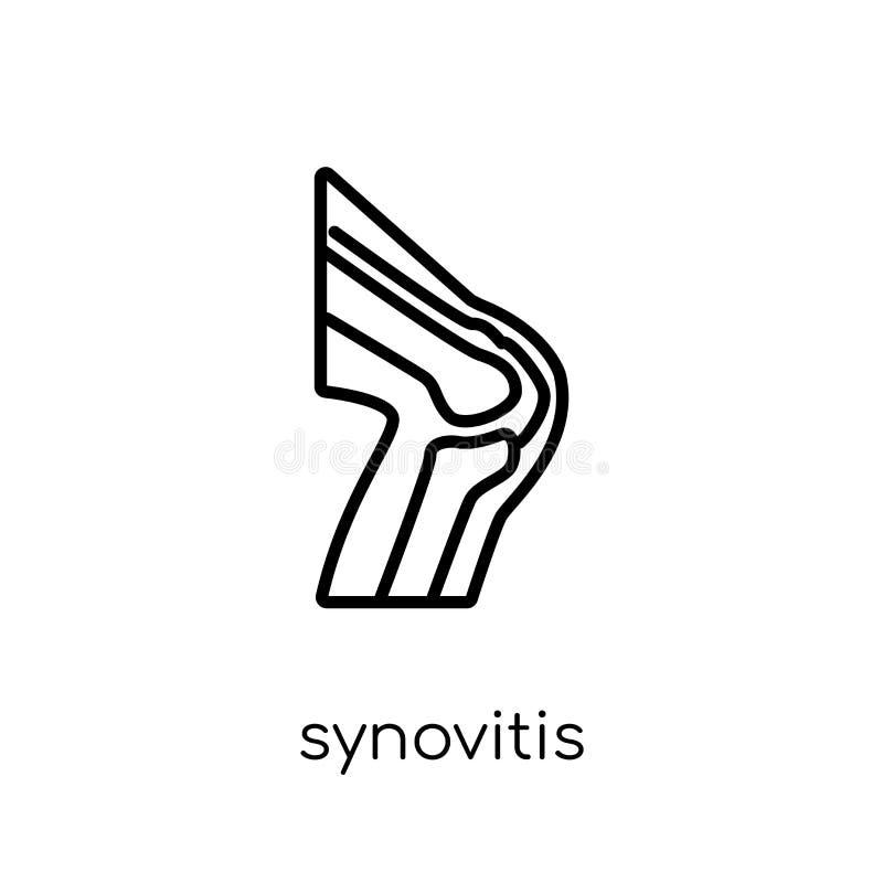 Synovitispictogram In modern vlak lineair vectorsynovitis-pictogram royalty-vrije illustratie