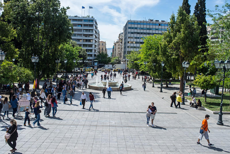 Syntagma square stock images