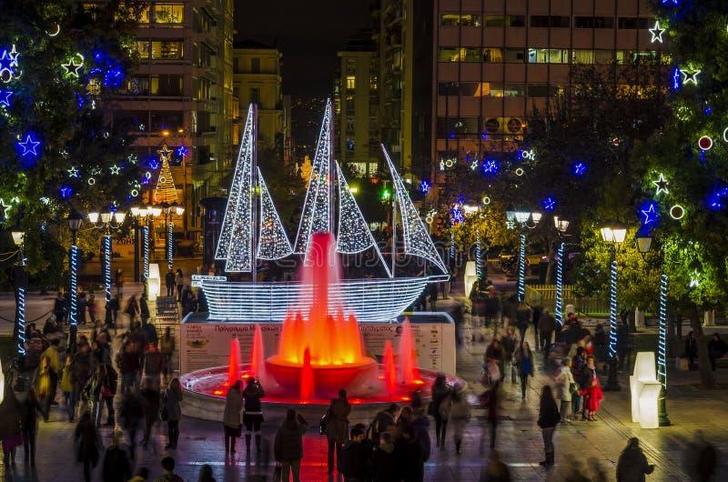 Syntagmavierkant stock afbeeldingen