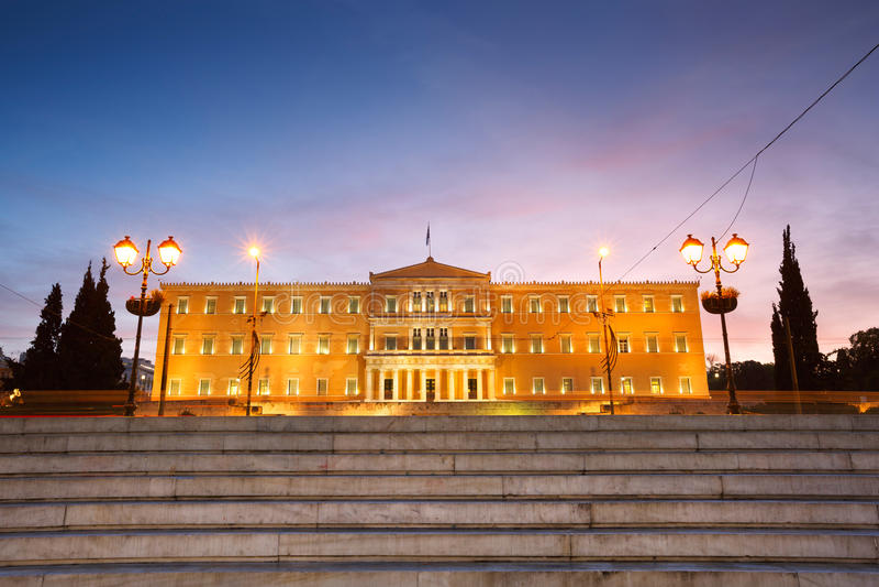 Syntagmavierkant, Athene stock foto