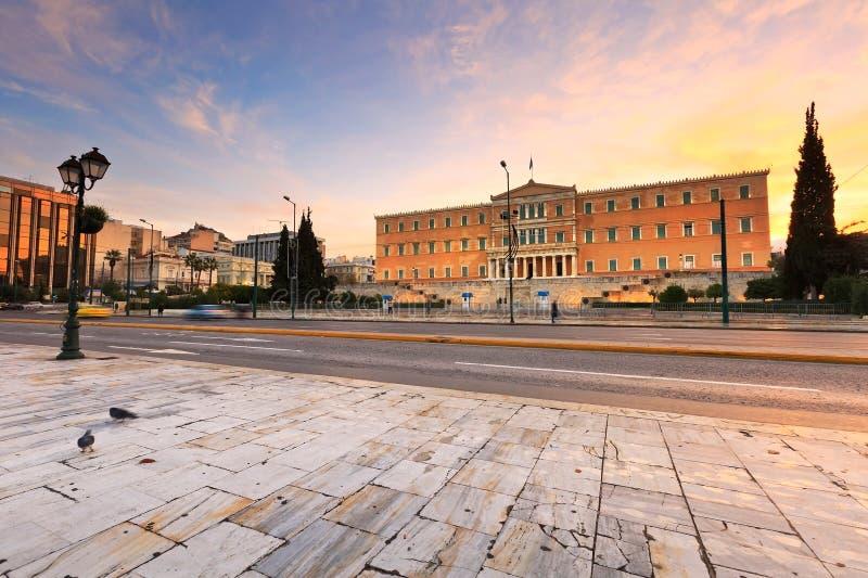 Syntagmavierkant, Athene royalty-vrije stock fotografie