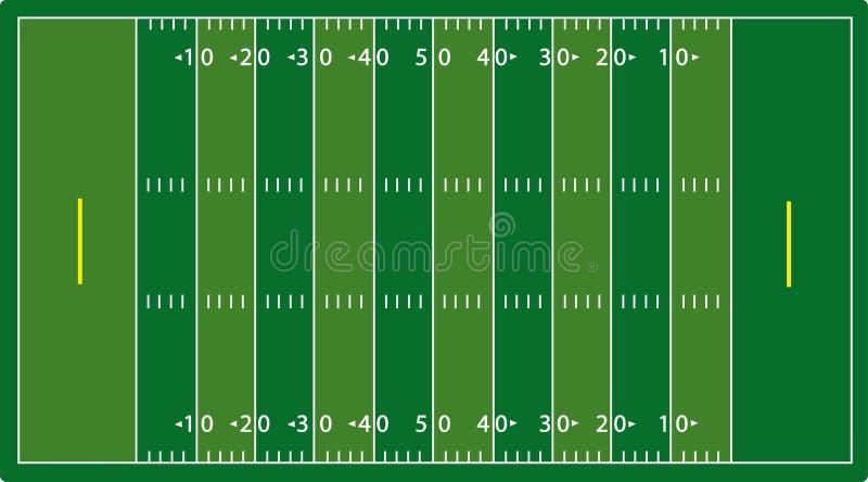 Syntetic football field (NFL) vector illustration