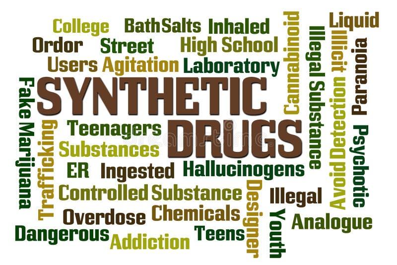 Syntetiska droger vektor illustrationer