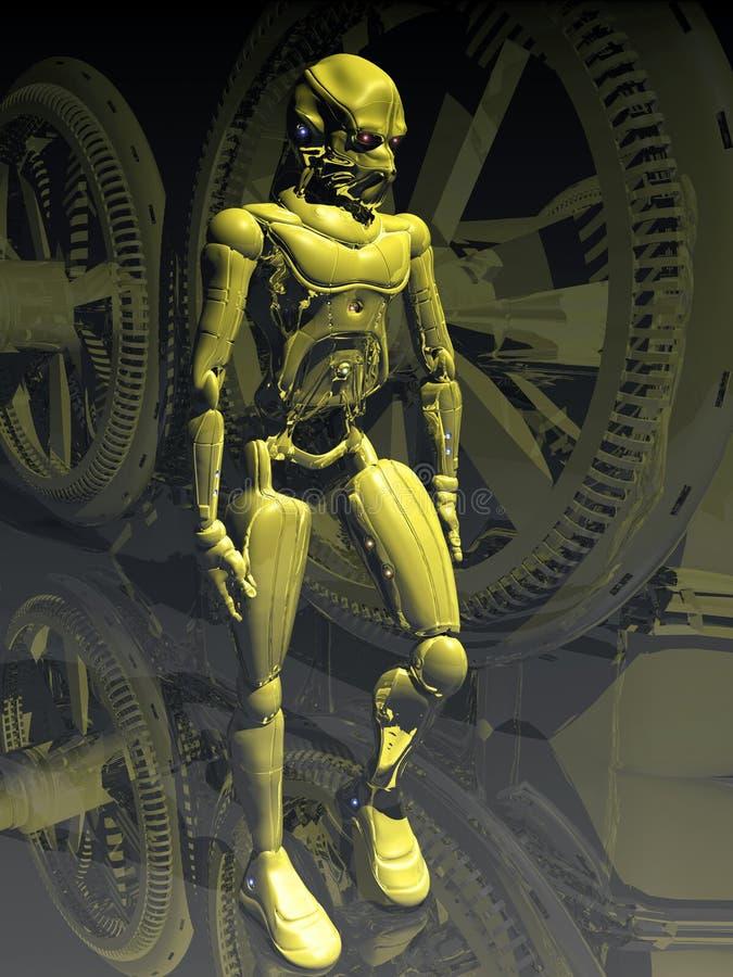 Syntetyczna przyszłość ilustracja wektor