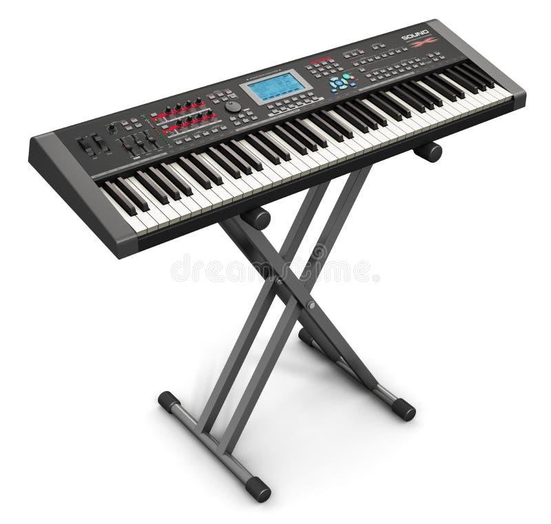 Synthétiseur musical professionnel sur le support illustration de vecteur