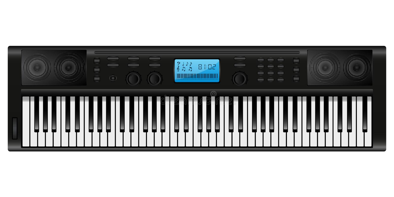 Download Synthesizer stock vector. Image of keyboard, audio, loudspeaker - 14601253