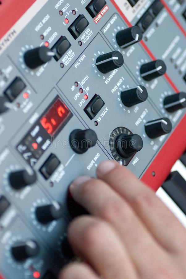 Download Synthesizer Buttons stock image. Image of record, session - 21701793