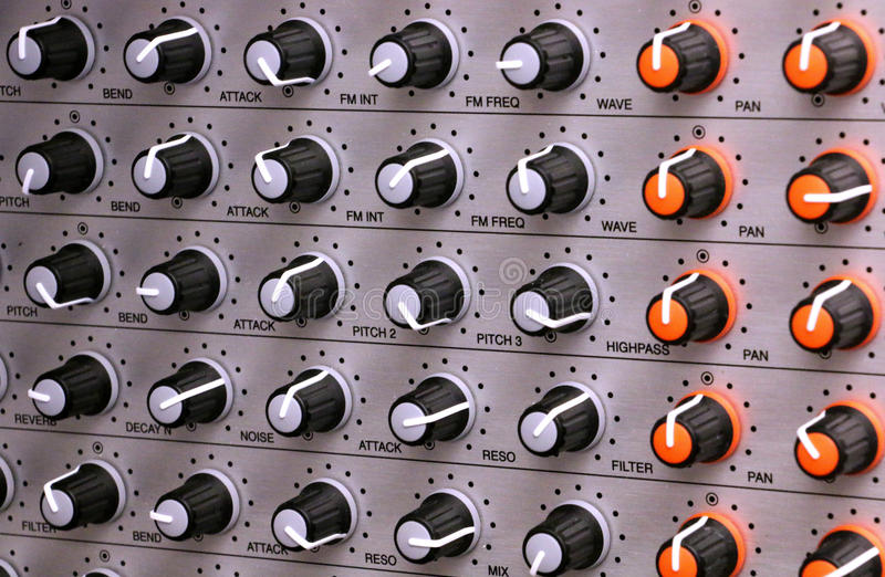 Synthesizer-Griffe stockfotos