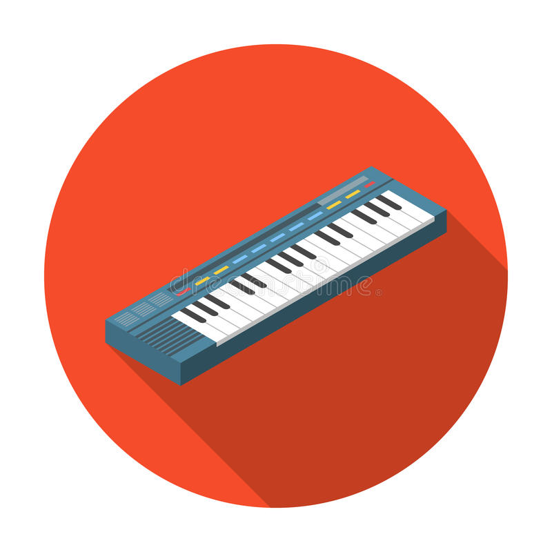 Synthesizer Icon In Flat Style Isolated On White Background Musical