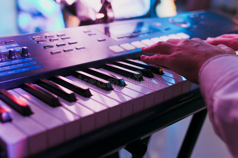 Download Synthesizer keyboard stock image. Image of play, band - 63355995