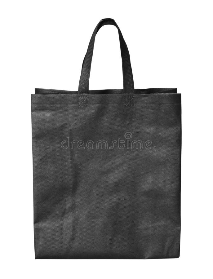 Synthetic fabric bag stock image