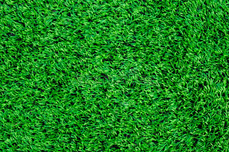 Synthetic grass. In football field stock photography