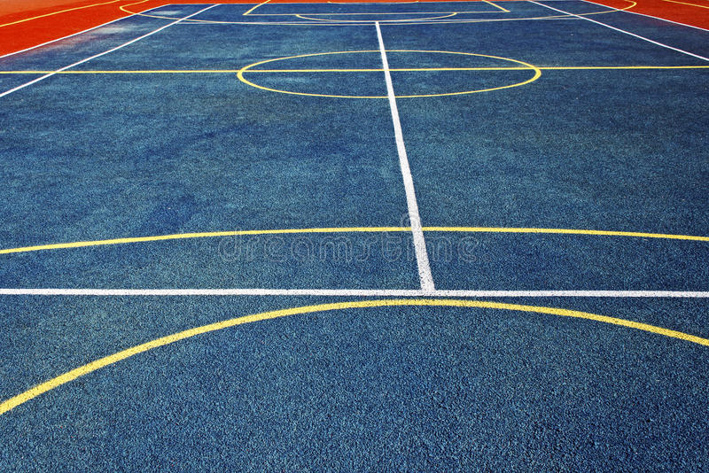 Synthetic sports field 1. Sports field with synthetic turf and different markings, used in sports royalty free stock image