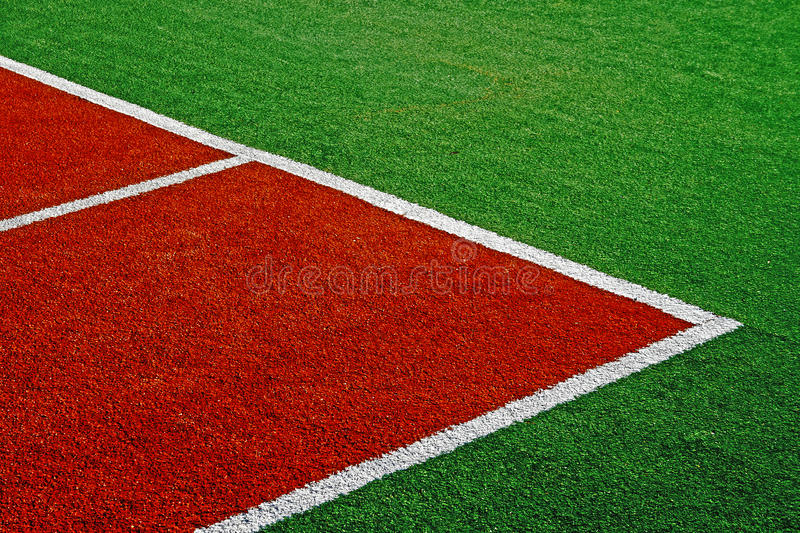Synthetic sports field 14. Sports field with synthetic turf and markings, used in tennis.Detail royalty free stock images