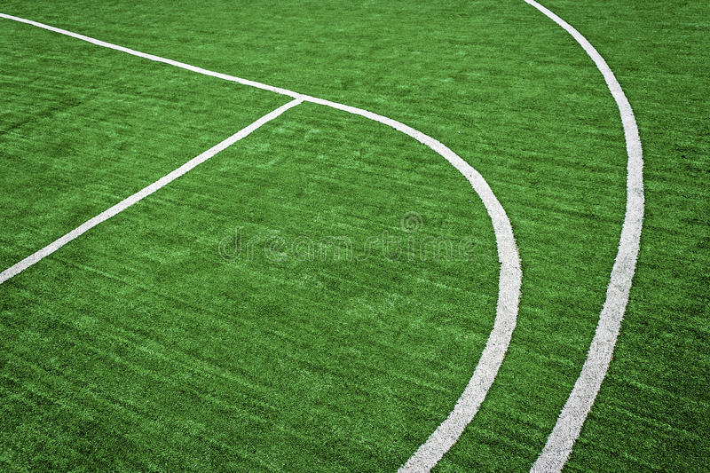 Synthetic sports field 37. Sports field with synthetic turf and different markings, used in sports.Detail royalty free stock photos