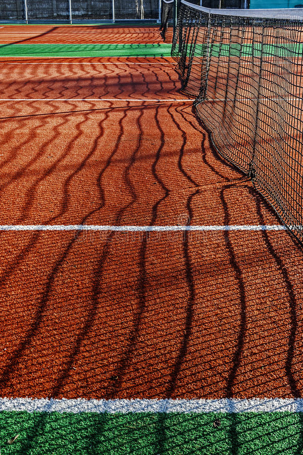 Synthetic Sports Field For Tennis 2 Royalty Free Stock Images