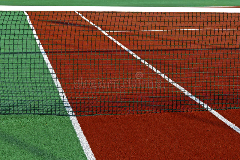 Synthetic Sports Field For Tennis 5 Royalty Free Stock Image