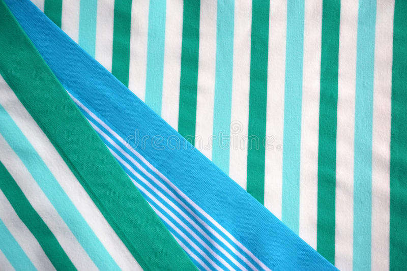 Synthetic Textile. Colored striped synthetic textile (mix of polyamide, polyester and elastane stock photography