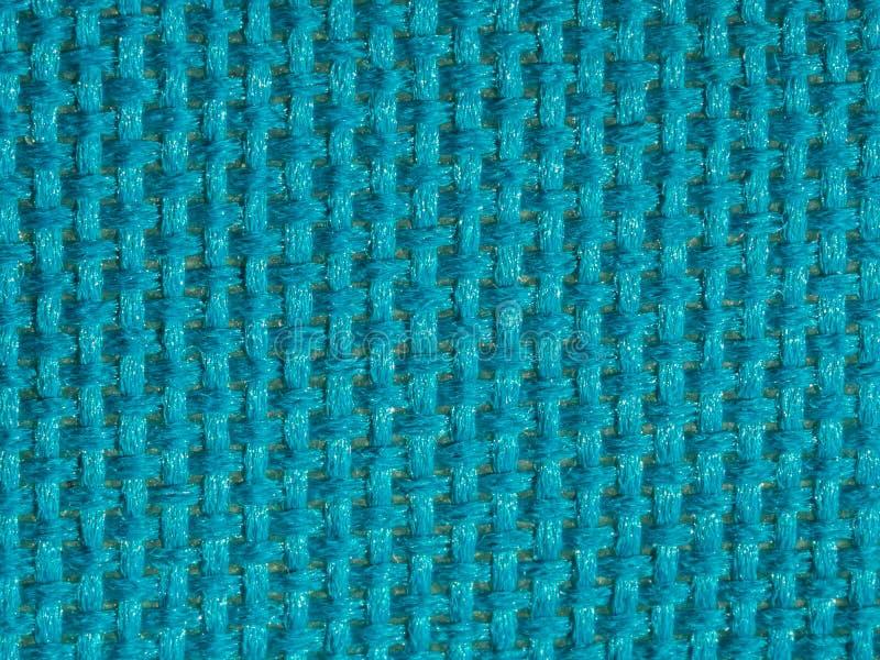 Synthetische blauwe doek net dichte omhooggaand Grote details! royalty-vrije stock fotografie
