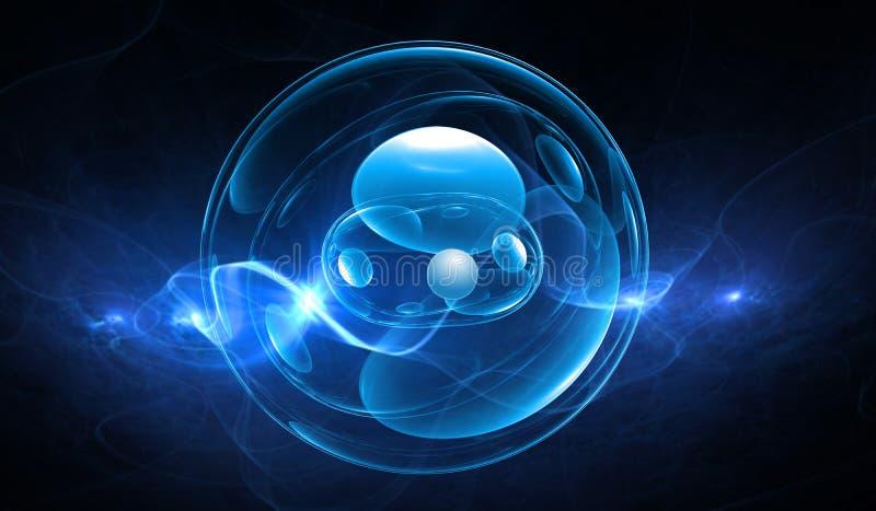 Synthetische cellenachtergrond royalty-vrije illustratie
