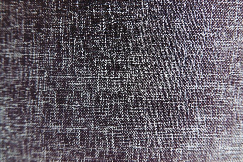 Synthetische de Stoffentextuur van de close-up Zwarte Kleur - Patroonontwerp of Polyester Materiële Abstracte Achtergrond stock afbeeldingen