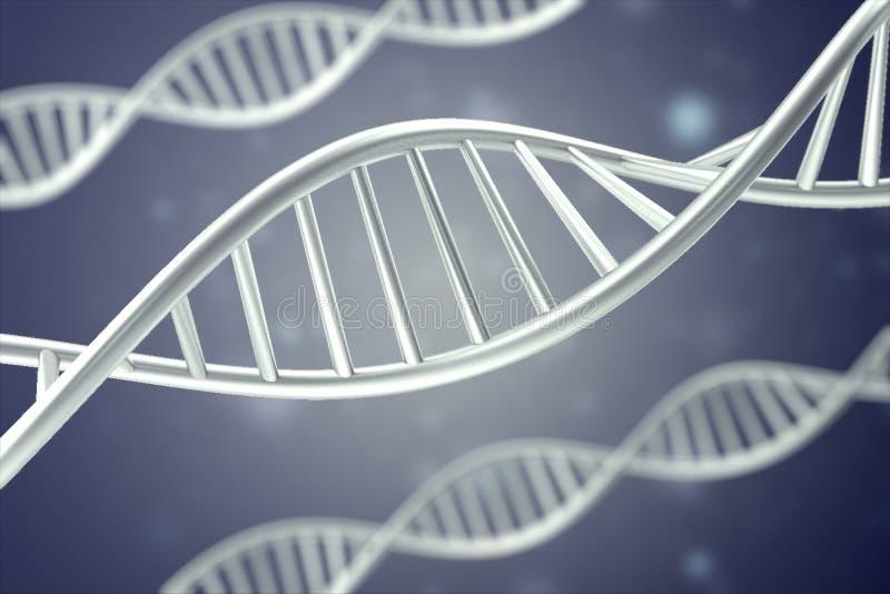 Synthetische, kunstmatige DNA-molecule, het concept kunstmatige intelligentie het 3d teruggeven vector illustratie