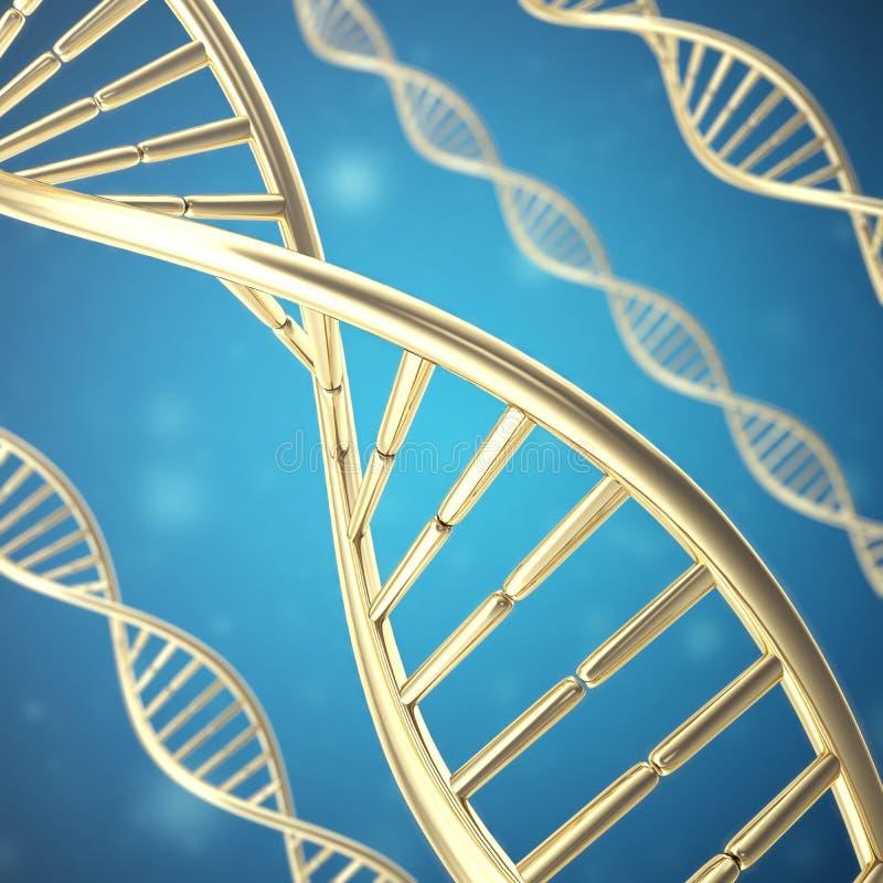 Synthetische, kunstmatige DNA-molecule, het concept kunstmatige intelligentie het 3d teruggeven royalty-vrije illustratie