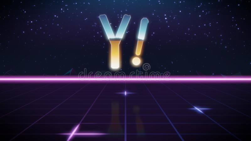 synthwave projekta retro ikona Yahoo royalty ilustracja
