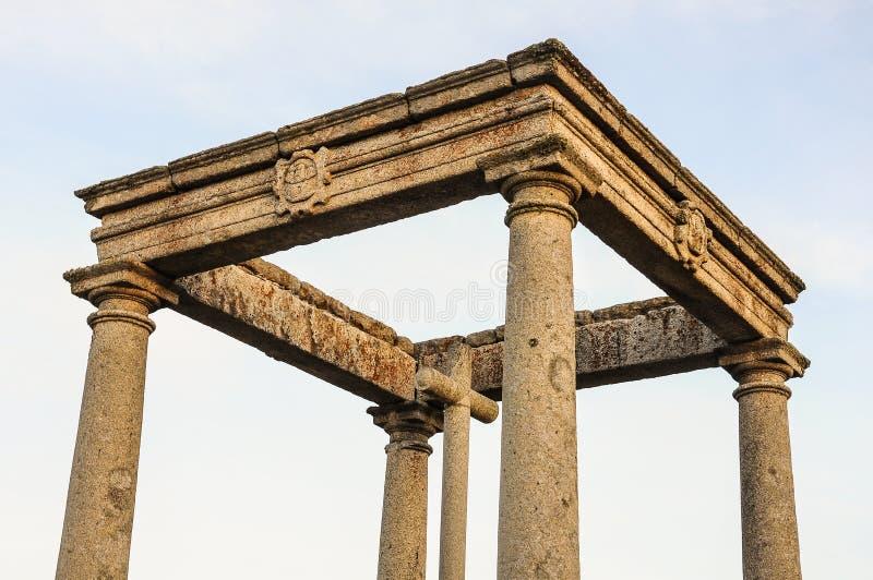 Synvinkel av de fyra stolparna i Avila, Spanien royaltyfria bilder