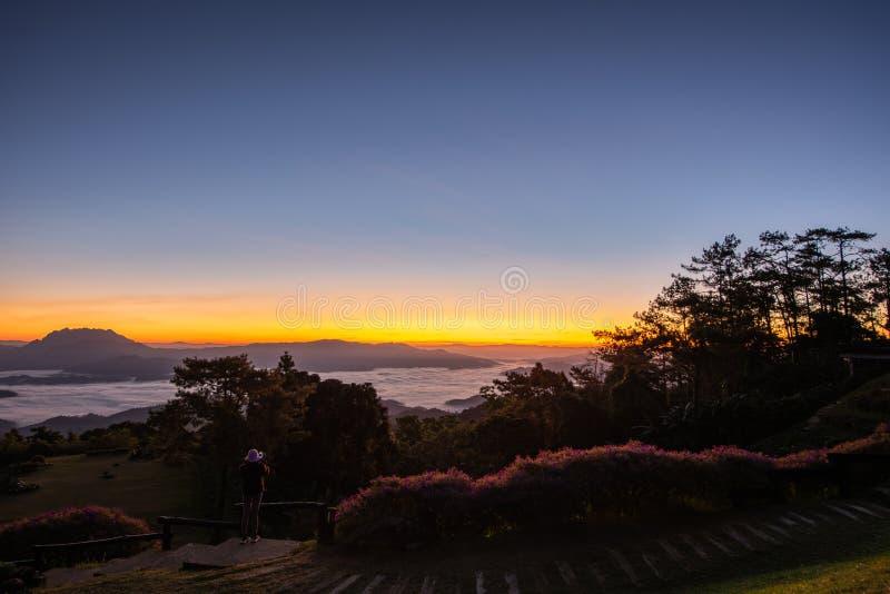Synvinkel på den Huai Nam Dang nationalparken royaltyfria foton