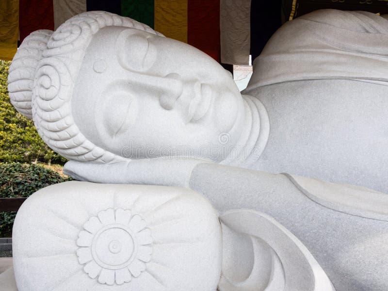 sypialna Buddha statua zdjęcia stock