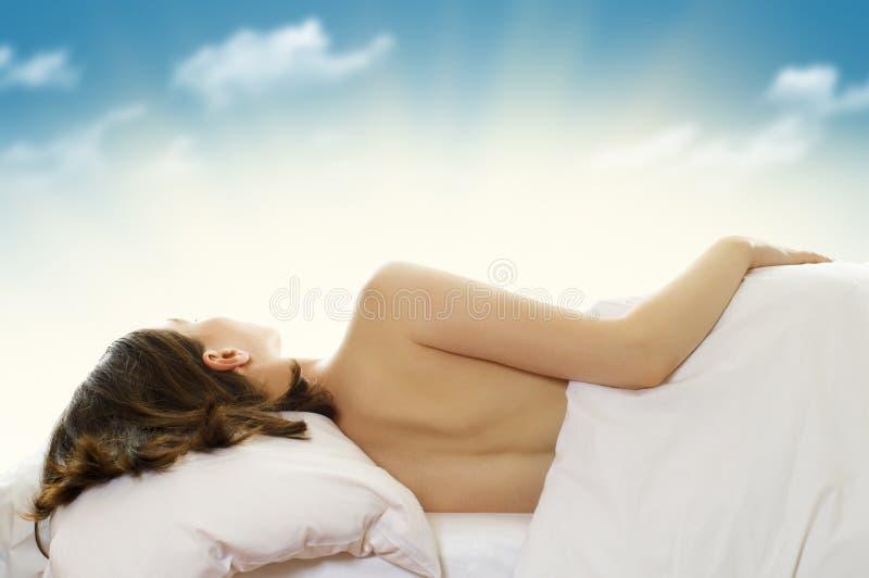 sypialna kobieta obraz stock
