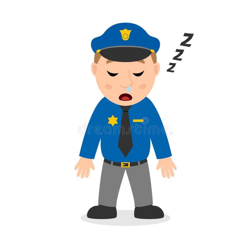 Sypialna policjant postać z kreskówki royalty ilustracja