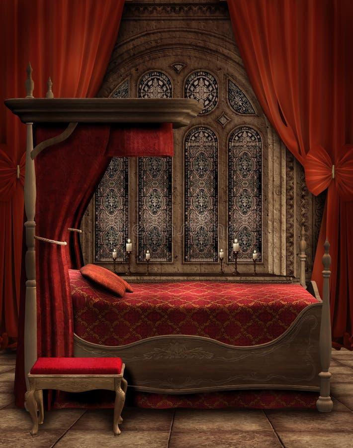 sypialni świeczek rocznik ilustracja wektor