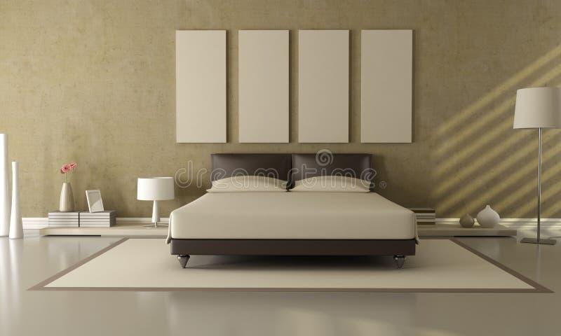 sypialni beżu brąz royalty ilustracja