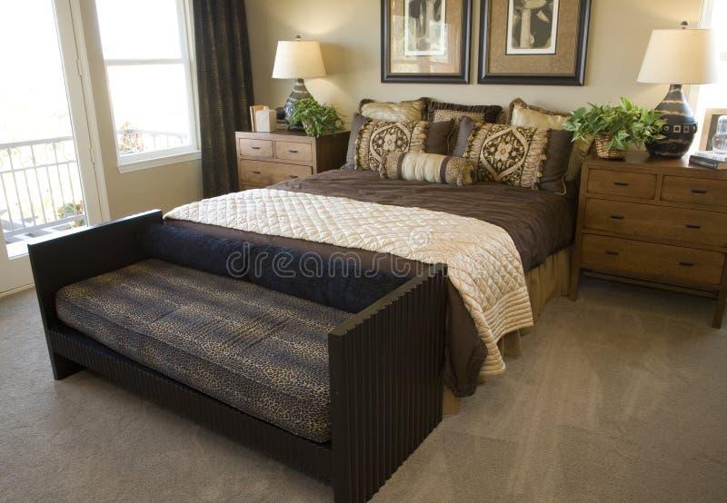 sypialni domowy luksusowy nowożytny obrazy stock