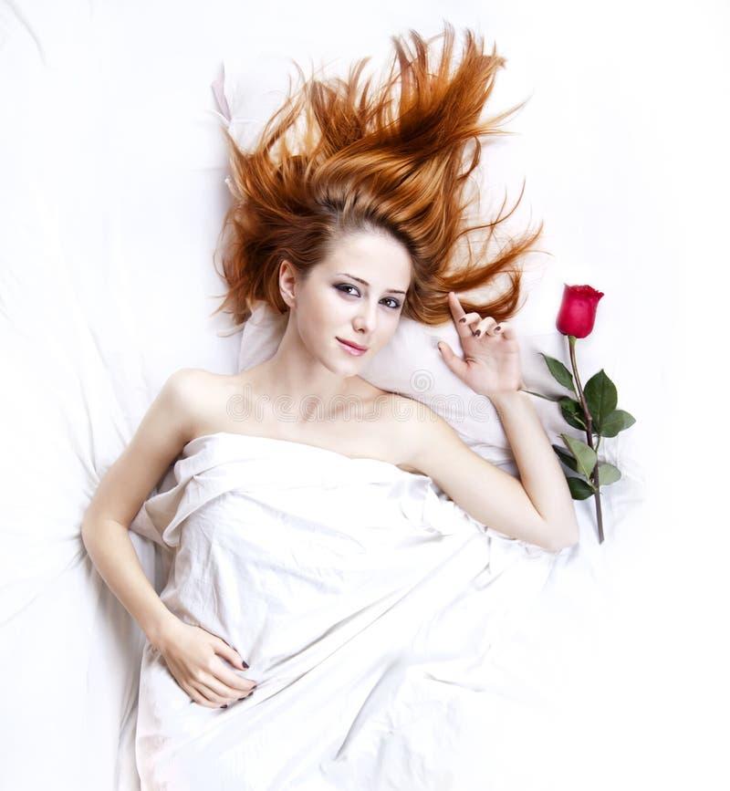 sypialni dziewczyna wzrastał obraz royalty free