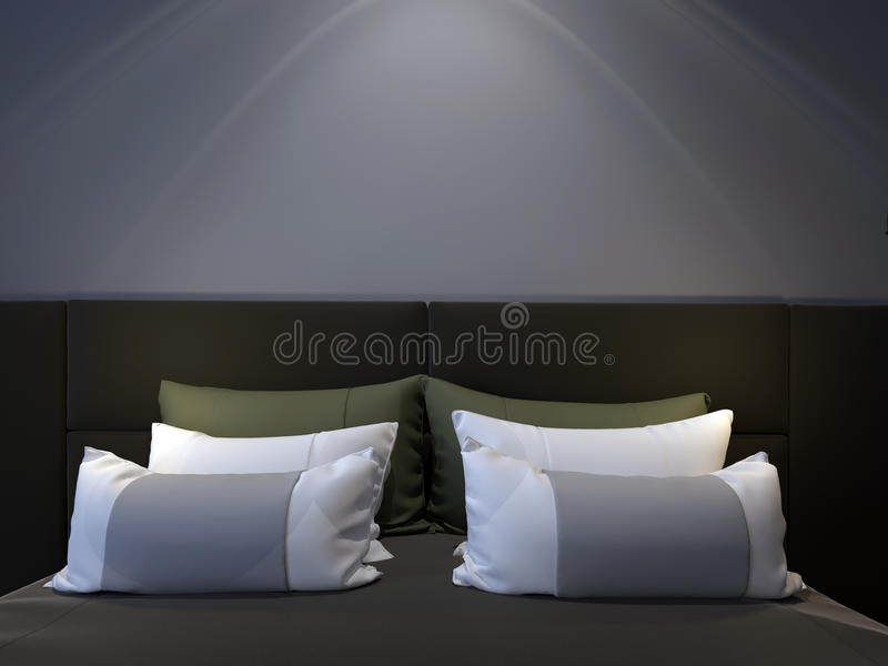 sypialni nowożytny dwoisty obraz stock