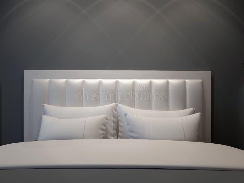 sypialni nowożytny dwoisty ilustracja wektor