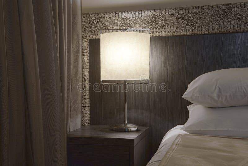 sypialni nowożytny narożnikowy obraz stock