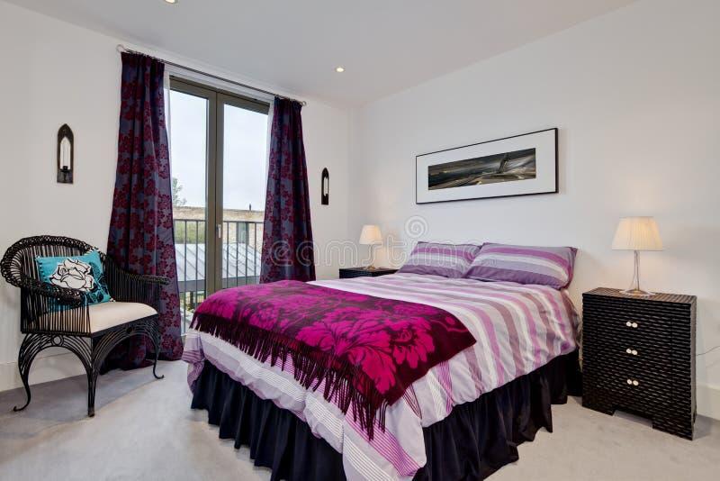 Sypialni nowożytny wnętrze obraz stock