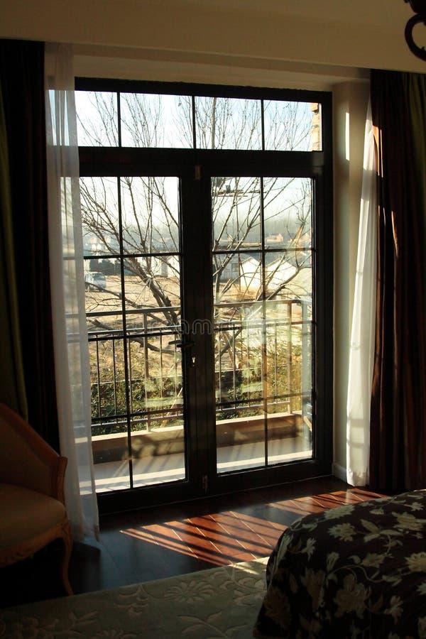 sypialni okno zdjęcie stock