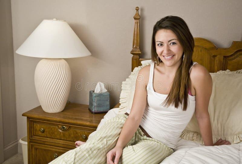 sypialni portreta kobieta zdjęcia stock