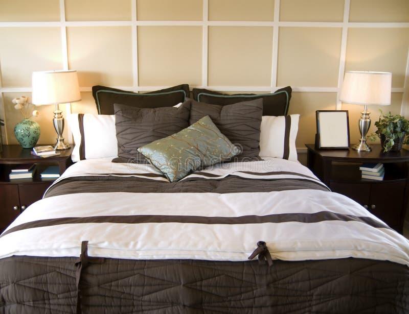 sypialni projekta wnętrza strzał obraz stock