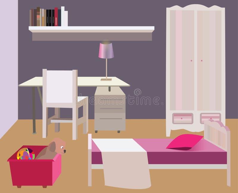 Sypialni urządzenie, wektor ilustracji